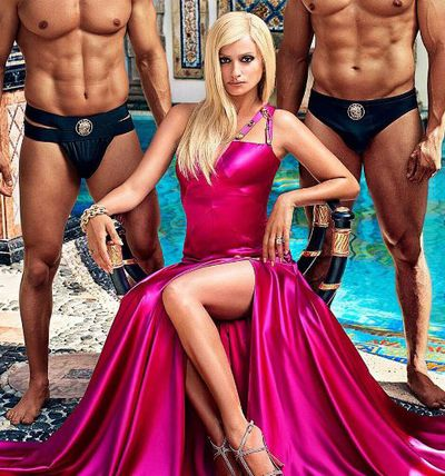 <p>Penelope Cruz has revealed her Donatella Versace look on the cover of US magazine Entertainment Weekly as filming continues on the television drama about the death of Gianni Versace.</p> <p>Lady Gaga was rumoured to be in the running for the role but Spanish Penelope won the opportunity to don a peroxide blonde wig.</p> <p>&nbsp;</p> <p> The 10 episode season is set to hit screens next year.</p>