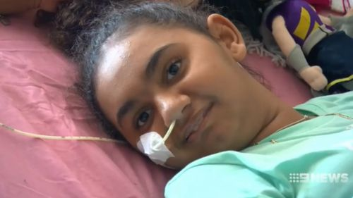 The 11-year-old was thrilled to be home, her mother said. (9NEWS)