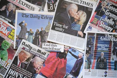 Selection of British newspapers