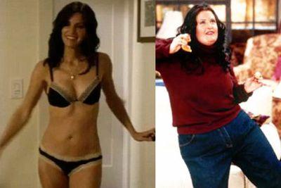 As 'fat' Monica on <i>Friends</i>.