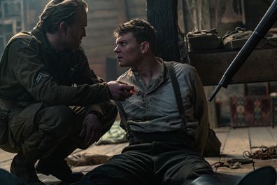Wyatt Russell and Pilou Asbæk in 'Overlord'