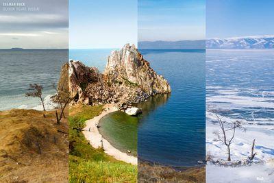 Shaman Rock in Olkhon Island, Russia