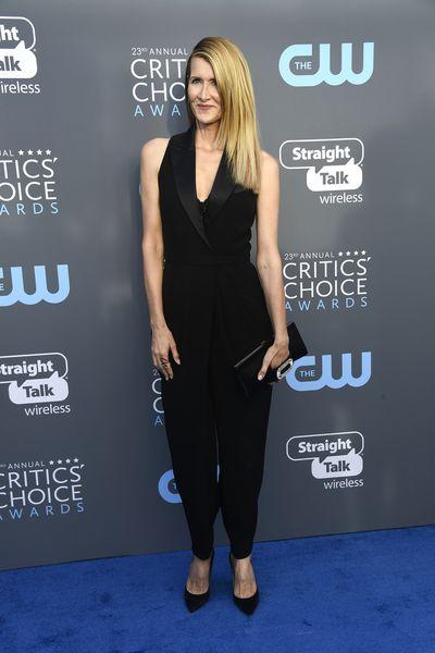 Actress Laura Dernat the 2018 Critics Choice Awards