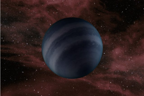 An artist's concept of a dark brown dwarf, which may resemble the black dwarfs predicted to form in the future.