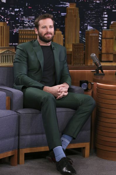Actor Armie Hammer during a taping of The Tonight Show Starring Jimmy Fallon on March 20, 2019.