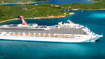 The Carnival Valor carries up to 4000 passengers and crew.