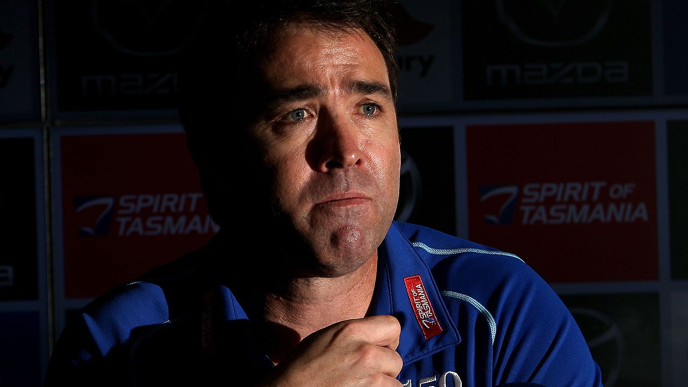 'A rebuild on the back of nothing': Outgoing Kangaroos coach Brad Scott discusses abrupt ending to tenure
