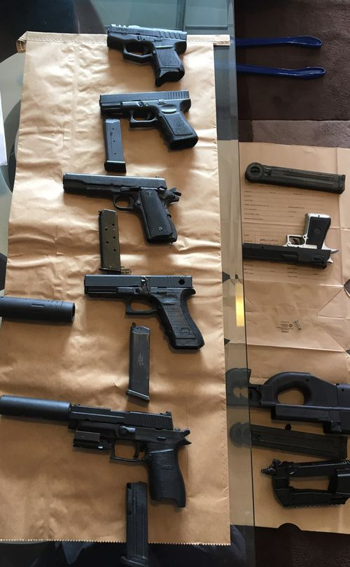 The guns and more than 400 digital blueprints for more weapons were found in Sun's Waverley home after his arrest in April last year.