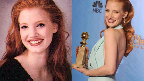 Destined for fame: Check out Jessica Chastain's adorable yearbook photo