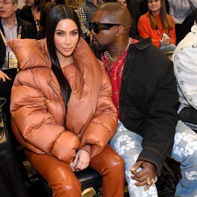 Kim Kardashian and Kanye West in February, 2020.