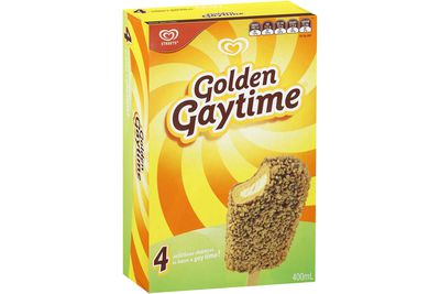 Golden Gaytime: 17g sugar — about 4 teaspoons