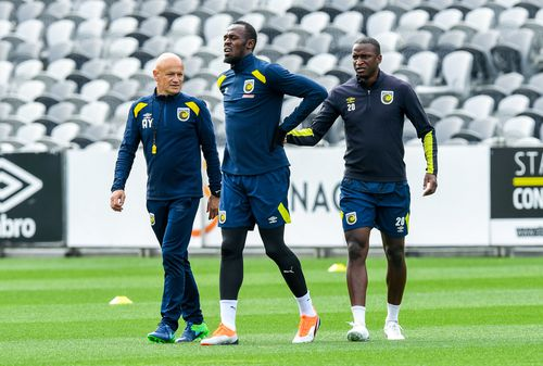 Despite that, the Olympian sprinter admits his fitness and the style and pace of A-League football is seeing him struggle.