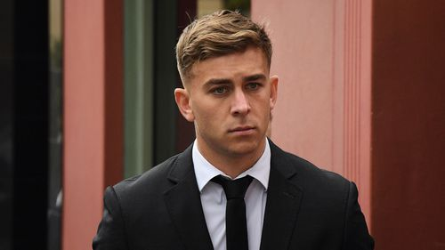 Callan Sinclair and de Belin are facing five counts of aggravated sexual assault.