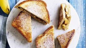 Elvis Banana and Peanut Butter pan toastie
