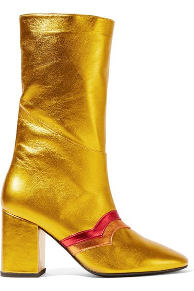 "MR by Man Repeller I'm here to party leather boot, $792 at <a href=""https://www.net-a-porter.com/au/en/product/810209/mr_by_man_repeller/i-m-here-to-party-metallic-leather-boots"" target=""_blank"">Netaporter.com<br> </a>"