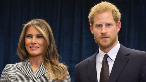 Melania Trump met Prince Harry for the Invictus Games event. (AFP)