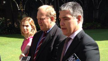 Katter Australia Party MPs Shane Knuth and Rob Katter. (Katherine Feeney/9NEWS)