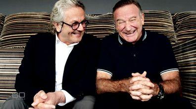 Australian director George Miller and Robin Williams.