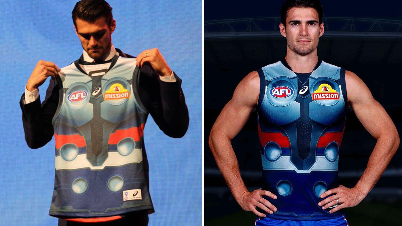 Fans slam 'disgraceful' Bulldogs Thor-inspired jersey for Marvel Stadium opener