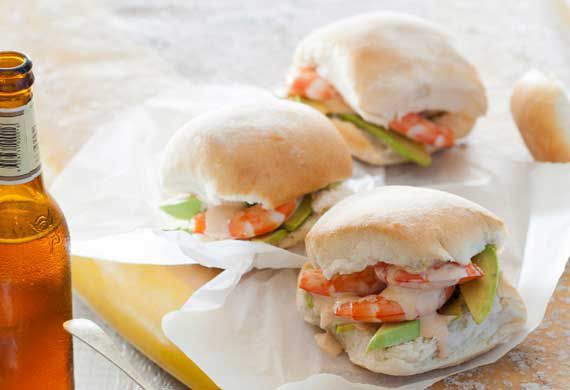 Hayden Quinn's prawn and avocado rolls with homemade seafood sauce