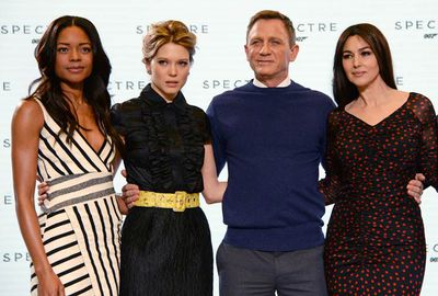 Spectre's Bond girls: Naomie Harris, Lea Seydoux and Monica Belluci.