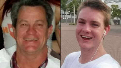 Adam Langford, 52, and his young nephew Jack died instantly when the truck barrelled into their car. Picture: 9NEWS