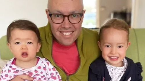 Matthew Fisher, pictured with his two daughters, Vivi and Sylvie.