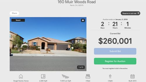 Screengrab of the Turpin family home up for auction.