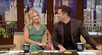 Mark was a guest host on wife Kelly's show, 'Live With Kelly and Ryan', on Monday.