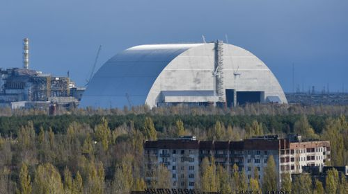 A view of the New Safe Confinement (NSC)