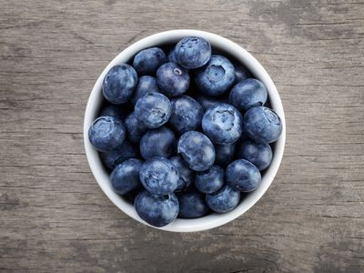 Frozen blueberries (83 calories)