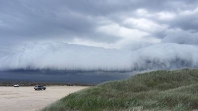 Storm clouds roll in at Boat Harbour. (Supplied: Matthew Dawson)