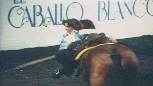 The horse show was famous for its Andalusian dancing stallions and riders in elaborate Spanish costumes. Picture: 9NEWS