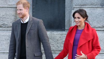 Prince Harry and Meghan in Birkenhead, January 2019