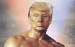 Donald Trump tweets bizarre photo of himself as Rocky