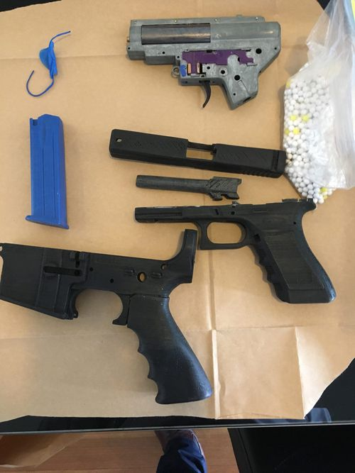 Sicen Sun was arrested in 2017 after it was found he had 3D-printed multiple guns and attempted to sell them on Facebook. Picture: Supplied.
