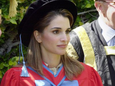 Queen Rania receives her Honorary Doctor of Laws degree, 2001.