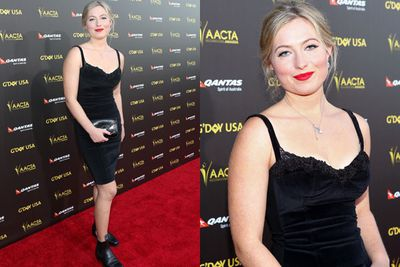 Aussie singer/songwriter Martha Marlow took a leaf out of K-Stew's book of style, rocking boots and an LBD on the red carpet.