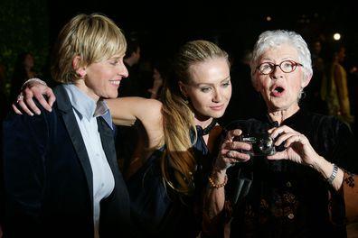 Ellen DeGeneres, Portia de Rossi and Betty DeGeneres