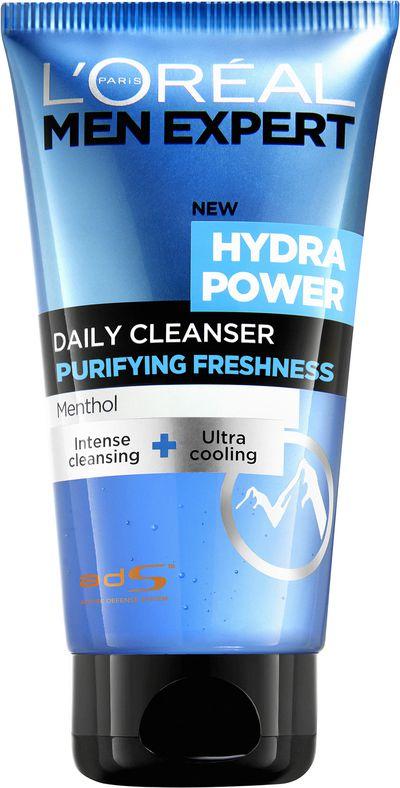 "<a href=""http://www.lorealparis.com.au/men.aspx?gclid=CMvc-NXx5c4CFdgkvQod33MM4g"" target=""_blank"">L'Oréal Paris Men Expert Hydra Power Daily Cleanser, $13.10.</a>"