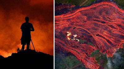 Hawaii lava flows into ocean spewing 'deadly' toxin into the air