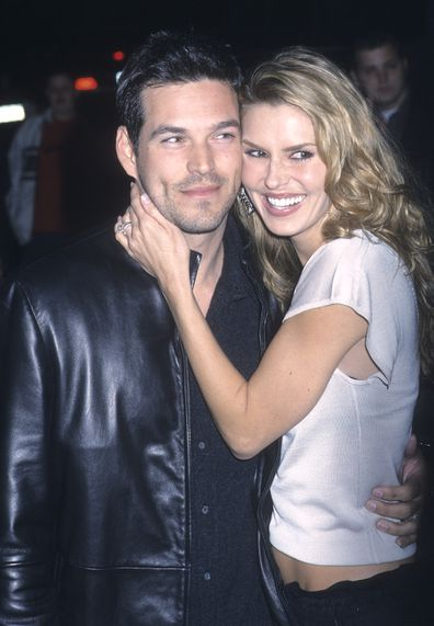 """Actor Eddie Cibrian and wife Brandi Glanville attend """"The Sweetest Thing"""" New York City Premiere on April 8, 2002 at Loews Lincoln Square in New York City."""