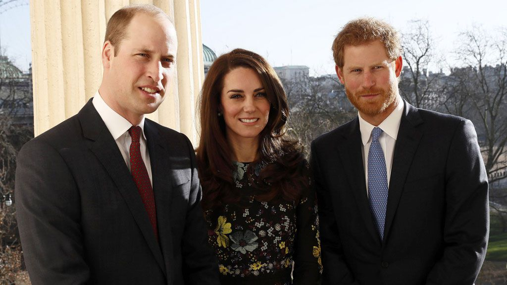 Prince William, The Duchess of Cambridge and Prince Harry