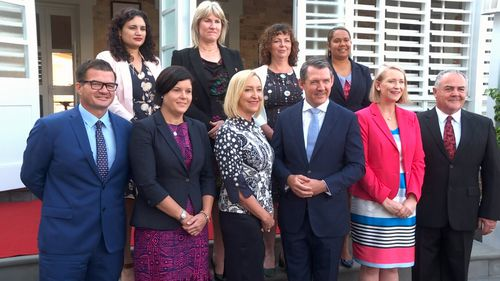 Michael Gunner's new-look cabinet. Picture: 9NEWS