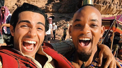 Will Smith treats cast of Aladdin to buffet