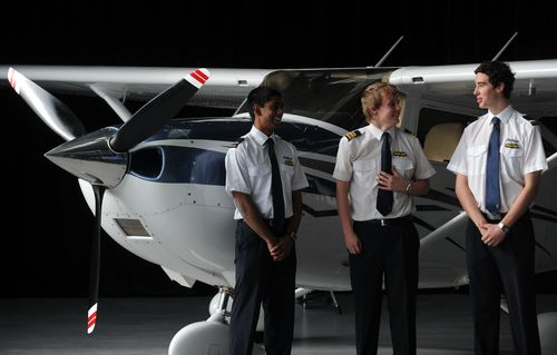 Cadet pilots during training at Morabbin airport in Melbourne in 2010. (AAP)