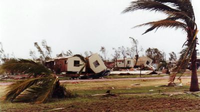 Cyclone Vance struck the Western Australia coast in March 1999, hitting the town of Exmouth particularly hard. There were no fatalities but $100m of damage was caused. (Gareth Christopher)