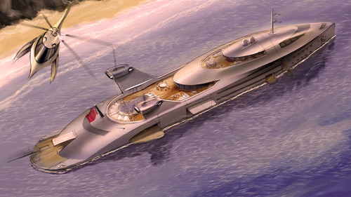 yacht designer Uros Pavasovic has come up with a rather unorthodox way of utilising discarded aircraft while simultaneously pushing the boundaries of superyacht design.