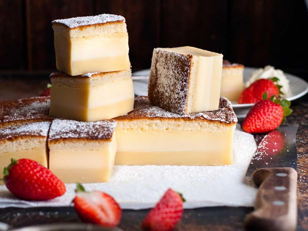 Recipe Tin Eats three layer magic custard cake