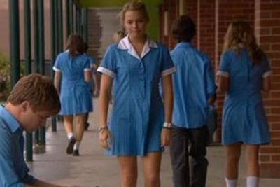 At 17, after a few commercials and small student films, Margot moved to Melbourne to pursue acting. Soon scoring a gig as bisexual school girl Donna Freeman on <i>Neighbours</i>.<br/><br/>(Image: Still from <i>Neighbours</i> / Ten Network)